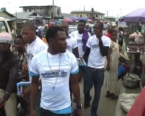 100 Thousand poets for change in Ughelli market Delta State Nigeria.