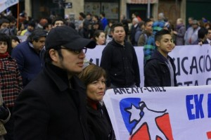 Oscar Chile protest