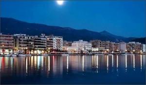 Volos Promenade under the moonlight