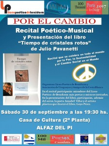 Presentación100 Mil poetas Alfaz del Pi 2017