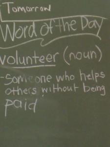 Word of the Day Ga Chuene School